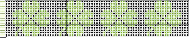 Схема фенечки четырехлистный клевер
